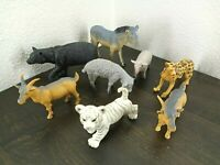 Animal Toy Lot of 8 Pieces - Various Brands and Styles of Animal Toys