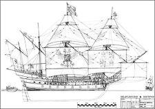 SANTYAGO DE COMPOSTELA (1540). Galeone. Modellbauplan