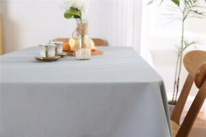 """Rectangle Cotton blend Linen Tablecloth Table Cover Kitchen Wedding Party 27x27"""""""