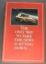 1985 Buick Park Avenue Mailer Catalog Sales Brochure Nice Original 85