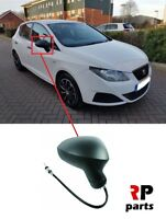 FOR SEAT IBIZA 2008 - 2017 NEW WING MIRROR MANUAL BLACK RIGHT O/S LHD