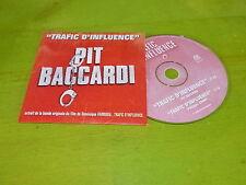 PIT BACCARDI - TRAFFIC D'INFLUENCE !!!!!RAP OLD SCHOOL !!!!!!RARE CD PROMO!!!!!!