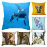 Lovely Square Animals Pattern Cushion Cover Throw Pillow Case Home Sofa Decor Ni