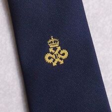 QUEEN'S AWARD EXPORT LOGO TIE VINTAGE CLUB ASSOCIATION 1980s NAVY BY ALEC BROOK