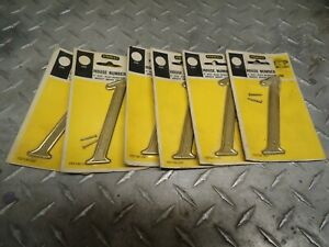 "Stanley Solid 4"" House Numbers  Lot Of 13 You Get  6 # 1- 3 # 2- &-4 # 3-Brass"