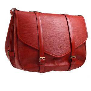 LOUIS VUITTON SAUMUR 43 SP ORDER MESSENGER SHOULDER BAG RED EPI AK31593g