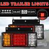 2x 24V 32 LED Trailer Lights Rear Light Truck Caravan Ute Boat Indicator
