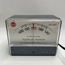 Ac( Rms) Power Line Monitor Rca Meter Wv-120A Vintage Electronic Test Equipment