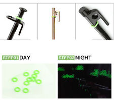 30Pcs night camping luminous peg ring loop tent strap rubber circle glow in dark