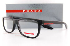 New Prada Sport Linea Rossa Eyeglass Frames PS 02G 02GV UB7 BLACK 56mm Men Women