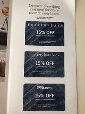 POTTERY BARN KIDS TEEN Coupons 15% Off Entire Purchase exp 12/30/18