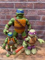 Lot of 3 TMNT Teenage Mutant Ninja Turtles Action Figures 2014 Playmates