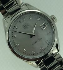 Tag Heuer Carrera Ladies Mother of Pearl Diamond Dial Steel 32mm WAR1314.BA0778