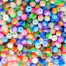 New Wholesale 200pcs 6x5mm Multi-color Striped Resin Round Spacer Loose Beads.