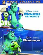 MONSTERS INC / UNIVERSITY Bluray Movie Collection Part 1 2 Original Disney New