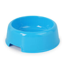 Colourful Pet Dog Cat Bowl Feeding Drinking Plastic Dish Feeder