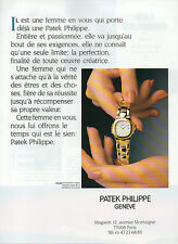 Publicité Advertising 1990  Montre  PATEK PHILIPPE Geneve modele Nautilus