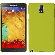 Hardcase Samsung Galaxy Note 3 rubberized yellow Cover + protective foils