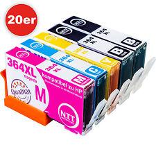 20 Drucker Patronen für HP 364 XL Deskjet 3520 3524 Officejet 4620 4622 mit Chip