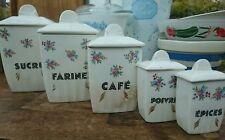 Vintage French Traditional Ceramic Storage Jars x5