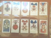 1924 Military ORDERS OF CHIVALRY medal complete set 25 cards Tobacco Cigarette