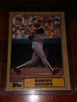 1987 Topps Barry Bonds Pittsburgh Pirates Rookie  Baseball Card, Great Condition