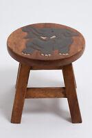 Décoration tabouret en bois design elephant 26 cm siège enfant déco wood stool