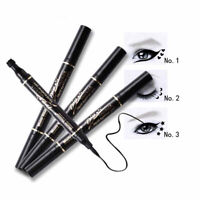 Liquid Eyeliner Waterproof 2 in 1 Vampire Eyeliner Pen and Magic Stamp Seal