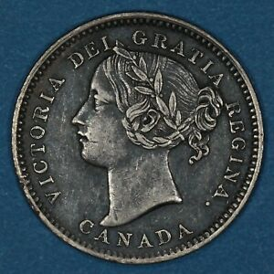 1901 Canada 10 Cents silver coin, XF, KM# 3