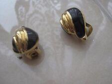 Vintage Ladies Black CIRO clip on earings. 1970's era.