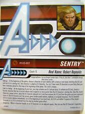 Heroclix mvid - 007 Sentry id-card