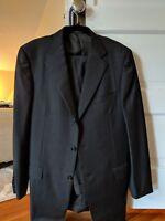 $2895 ERMENEGILDO ZEGNA Charcoal Gray Solid Wool Suit 42 L
