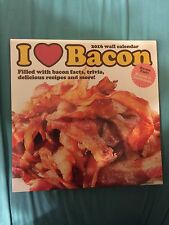 I Heart Bacon Lovers 2016 Wall Calendar 12 Month Funny Novelty Foodie Chef Cook