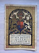 Queen Elizabeth II official coronation programme magazine handbook, 1953 royal
