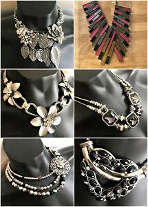 Joblot 14 Nickel free STATEMENT Costume Necklaces 6 designs A