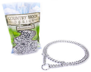 1 - Country Brook Design® Chain Martingale Dog Collar, Small