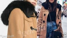 ZARA WOOL DUFFLE COAT WITH FAUX FUR HOOD WOLLMANTEL ANORAK PARKA SIZE M 7616/644