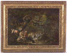 "George Morland (1763-1804) ""Gypsies"", Oil on Panel, Late 18th Century, original"