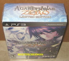 Record of Agarest War Zero Limited Edition (PlayStation 3, 2011) PS3 New Sealed