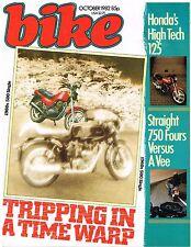 Bike Oct 1982 Velocette Thruxton Honda VF750 FT500 XJ750 Kawasaki Z750GT CB125T