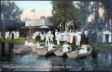 OMAHA NE ~ 1900's ROD AND GUN CLUB ~ LAKE NAKOMA ~VICTORIAN  LADIES IN ROW BOATS