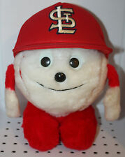 Vintage 1980s St. Louis Cardinals Stuffed Baseball Head with Hat RARE Collectors