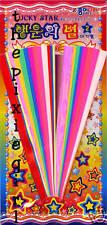 ORIGAMI PAPER BRIGHT IRIDESCENT STAR MAKING KIT 100 STARS 11 COLORS