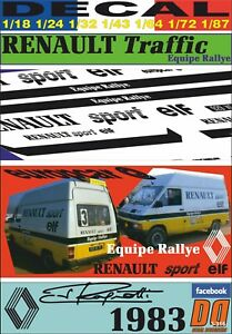 DECAL RENAULT TRAFFIC EQUIPE RALLY JEAN RAGNOTTI 1983 (09)