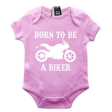 Born to be a BIKER Babygrow Motorbike Vintage Baby Grow Top Bike Motorcycle B4
