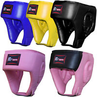 Junior Leather Boxing Head Guard Gear Martial Art Size Children / YOUTH