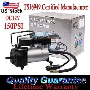 New Air Compressor Heavy Duty Portable 12V 100PSI Tyre Auto Tire Inflator Pump