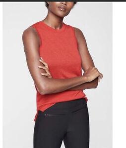 Athleta Breezy Tank Top Women's Large Red Sleeveless Top