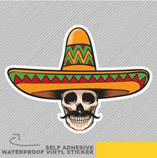 CINCO Teschio Giorno dei Morti messicano Adesivo Vinile Decalcomania Finestra Auto Van Bici 2105