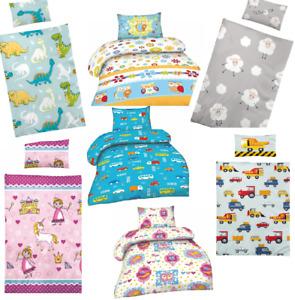 Bettwäsche Babybett Kinderbett Mikrofaser Bettbezug Bett 100x135 40x60 Neu Bunt